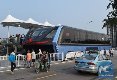 Chinese elevated bus gallery