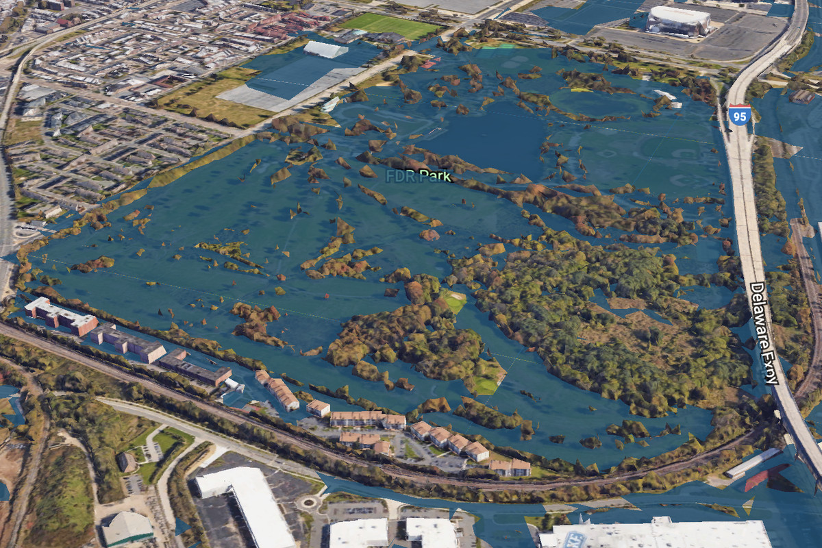 Heres What Philly Could Look Like In If Sea Levels Rise - Google maps sea level