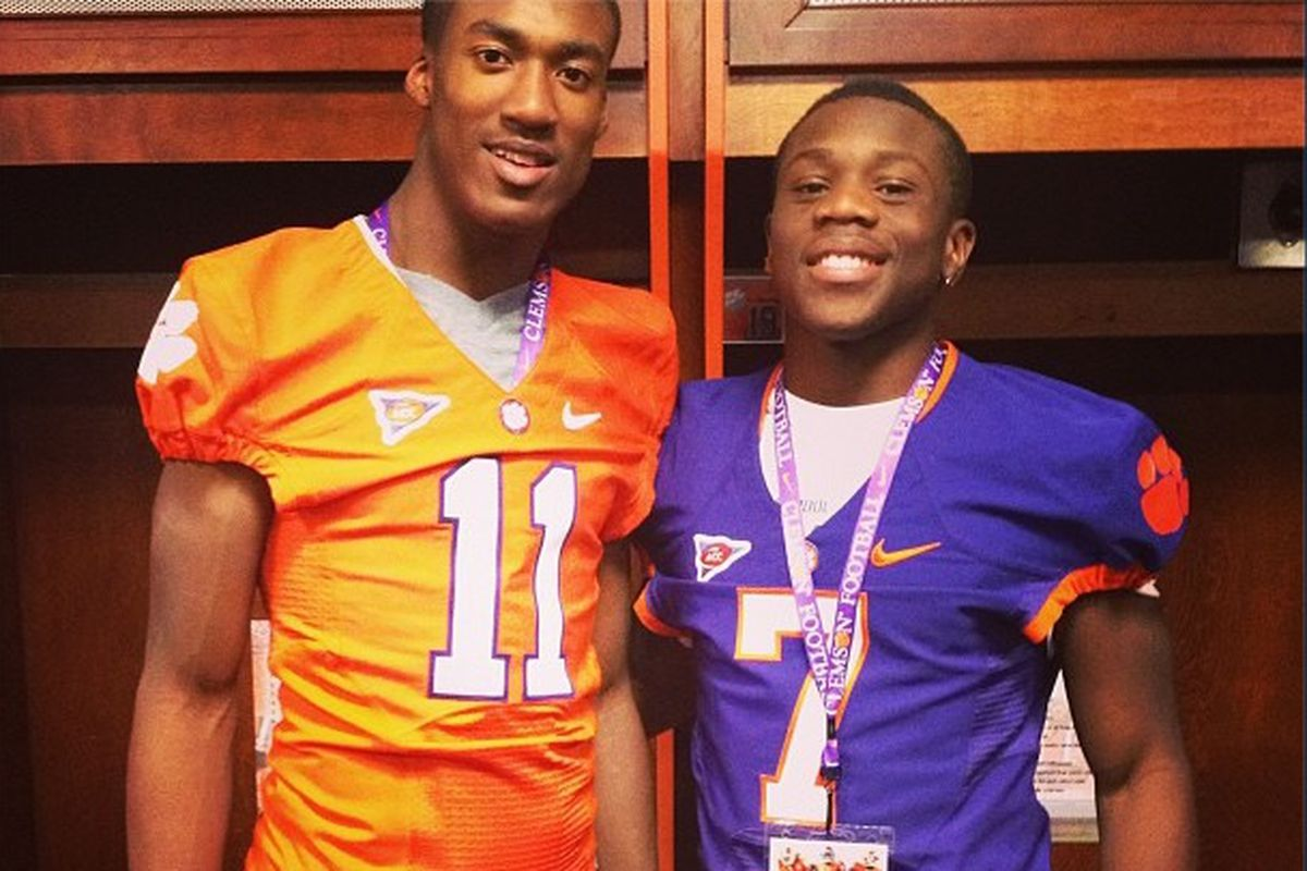 '15 WR George Campbell (right) has Ohio State interested in his talents