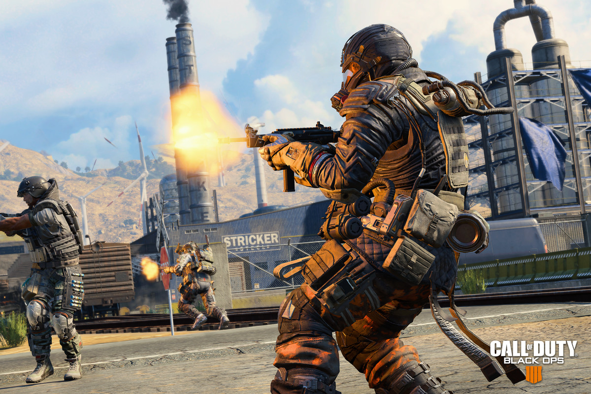 Call of Duty: Black Ops 4 - three soldiers in a Blackout match