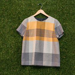 Harare plaid t-shirt, $375