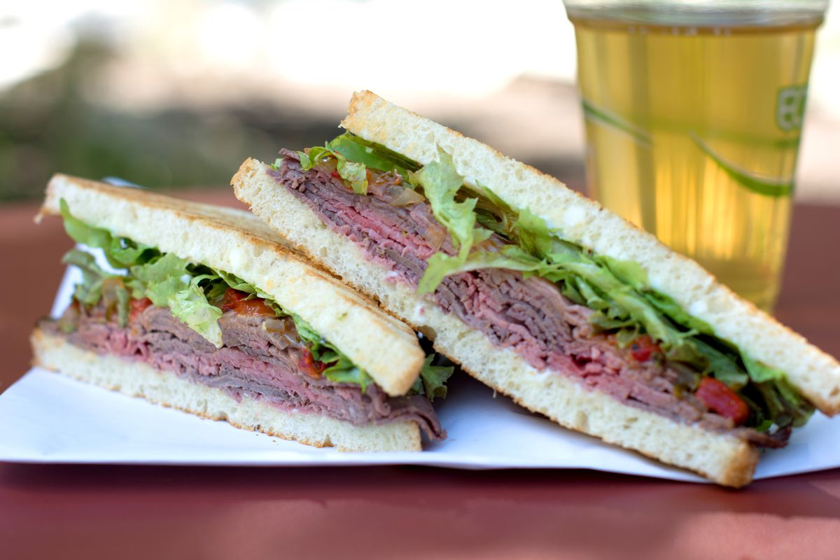 The roast beef sandwich from Salt & Time Cafe