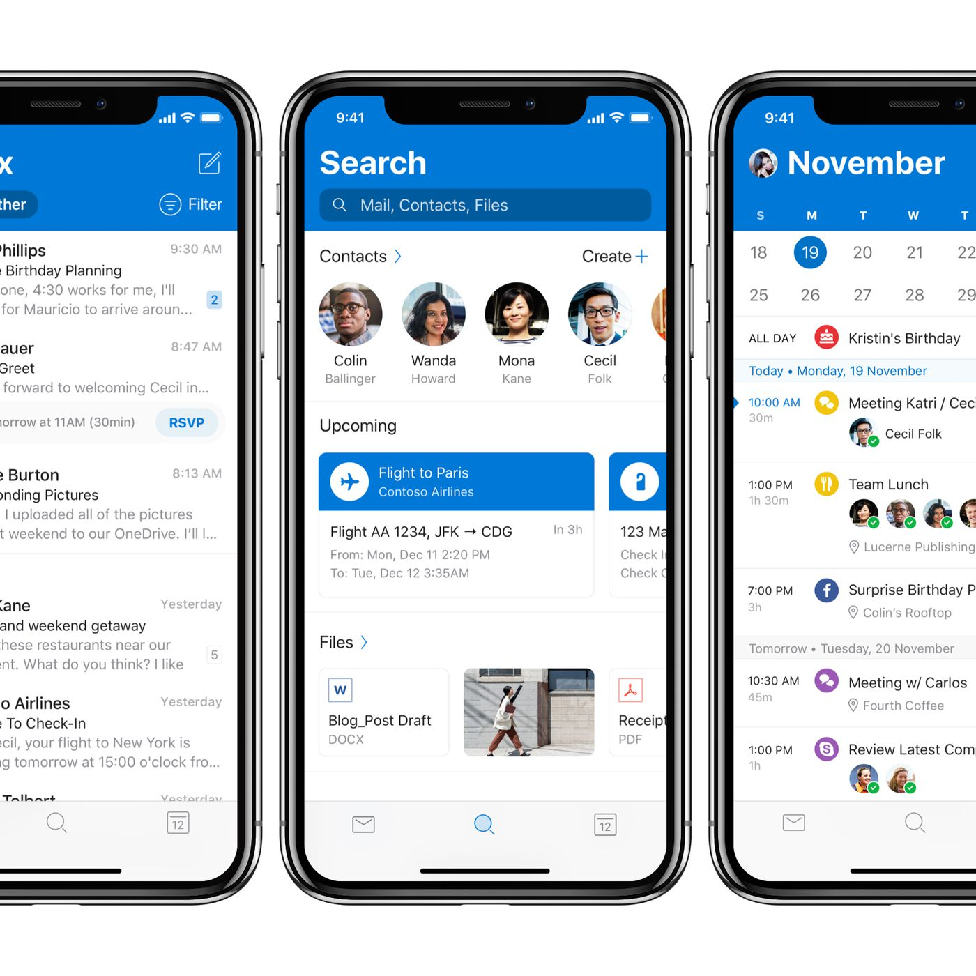 Microsoft Outlook for iOS is getting a new design and dark