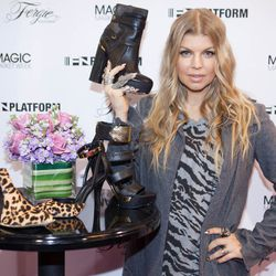 Singer Fergie stopped by FN Platform to promote her shoe collection, Fergie Footwear. Photo: MAGIC Market Week