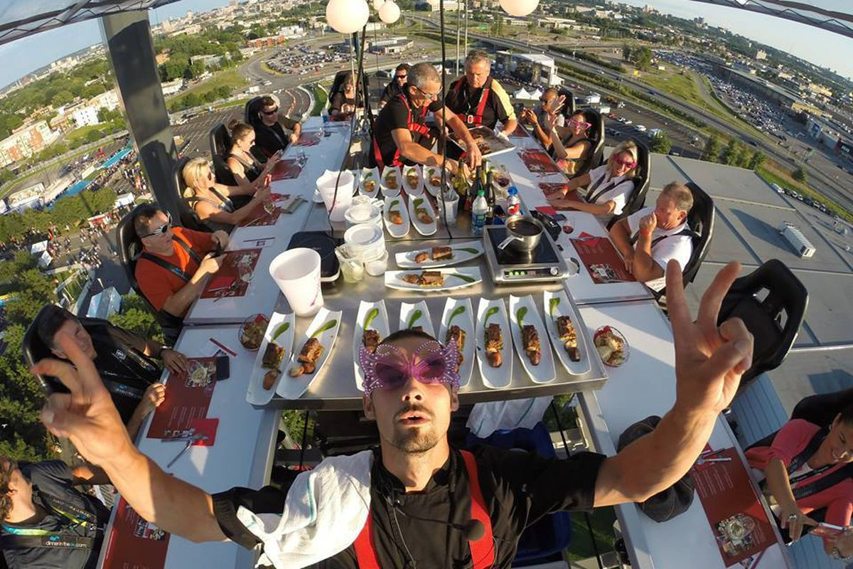 This Montreal Company Wants to Serve You Dinner in the Sky - Eater Montreal