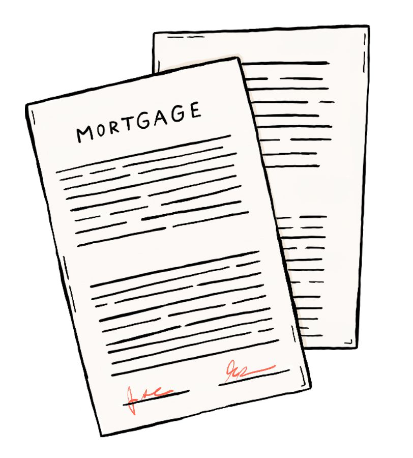 An illustration of a mortgage paper