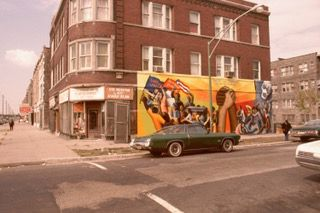 """The mural """"Together We Overcome"""" in 1974."""