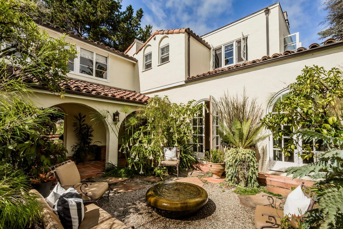 Dreamy spanish style in hillsborough asks 4 6 curbed sf for Spanish style homes for sale near me