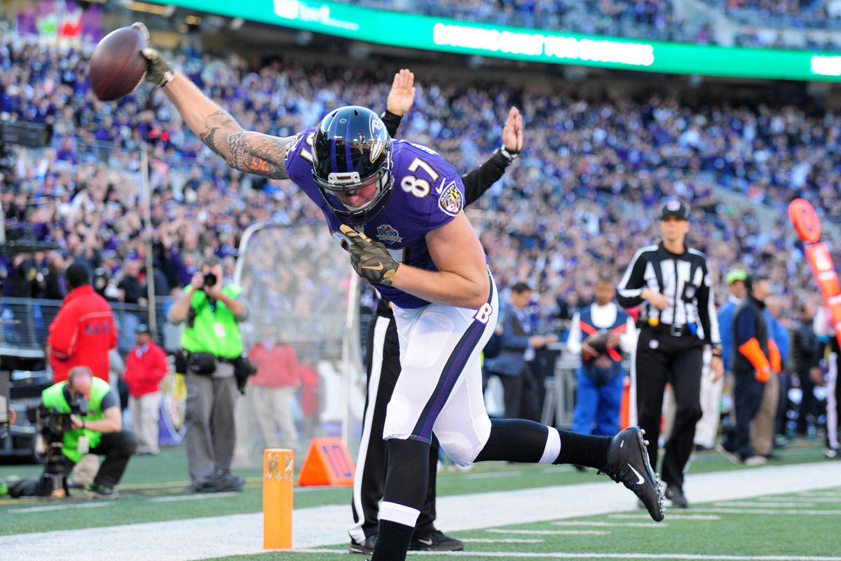 Maxx going for the spike after his first NFL TD!