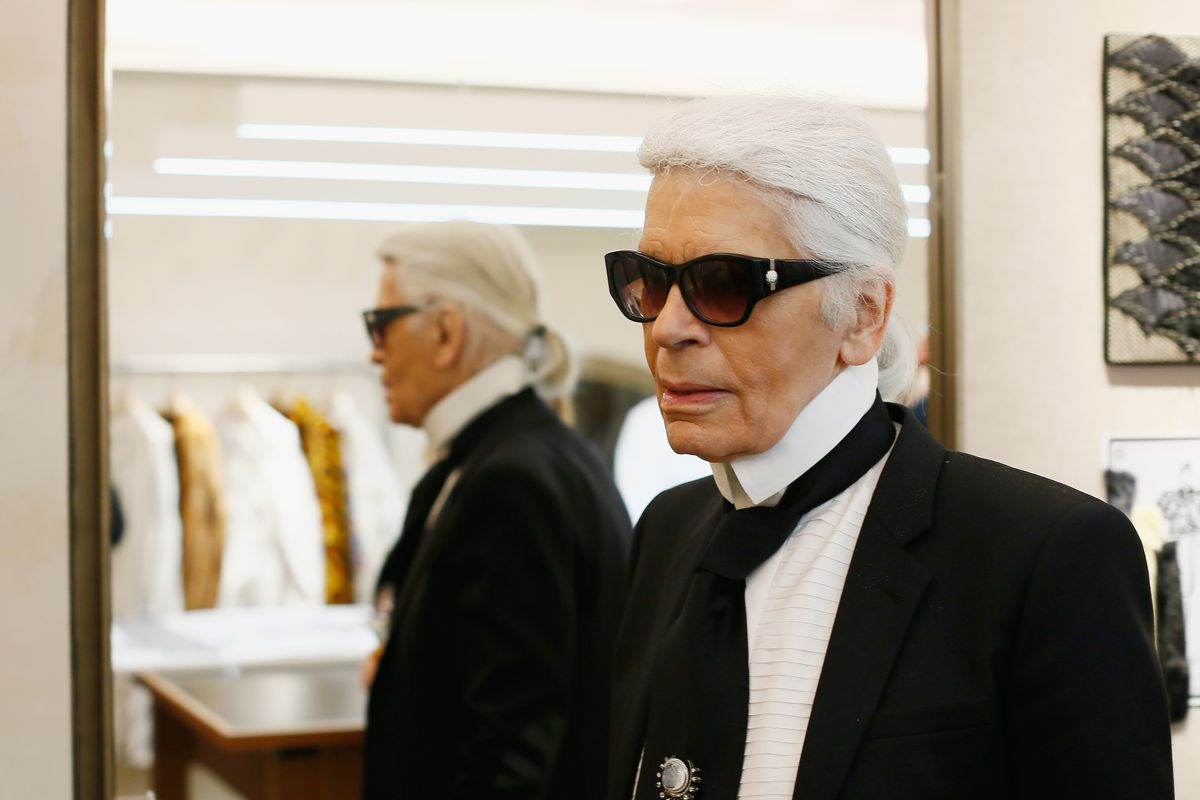 Karl Lagerfeld at a Fendi event in March. Photo: Ernesto Ruscio/Getty Images