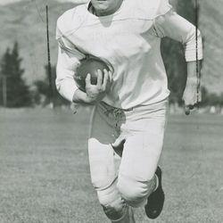 Utah State quarterback LaVell Edwards in Sept. 18, 1951.
