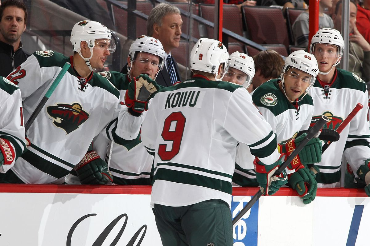 One thing trending up for the Wild without Parise: Flyby celebrations.