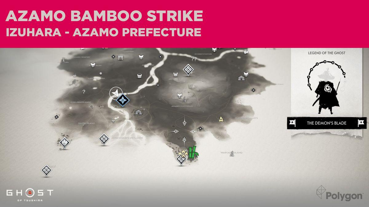 The Bamboo Strike location in Azamo in Ghost of Tsushima