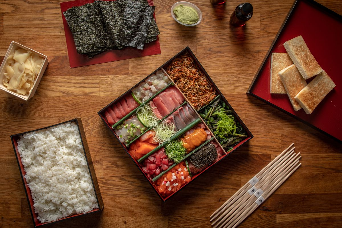 Masa's takeout spread, opened