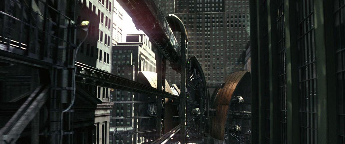chicago loop batman begins train