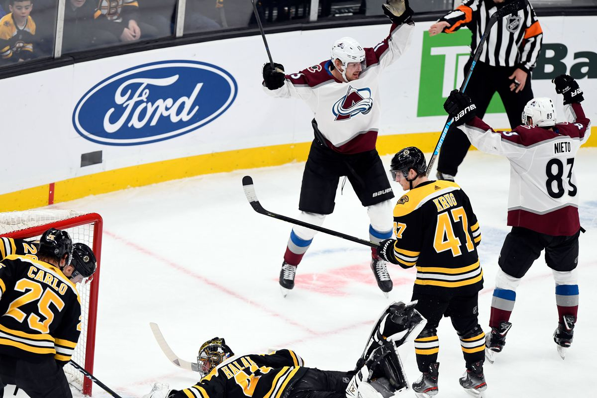 NHL: Colorado Avalanche at Boston Bruins