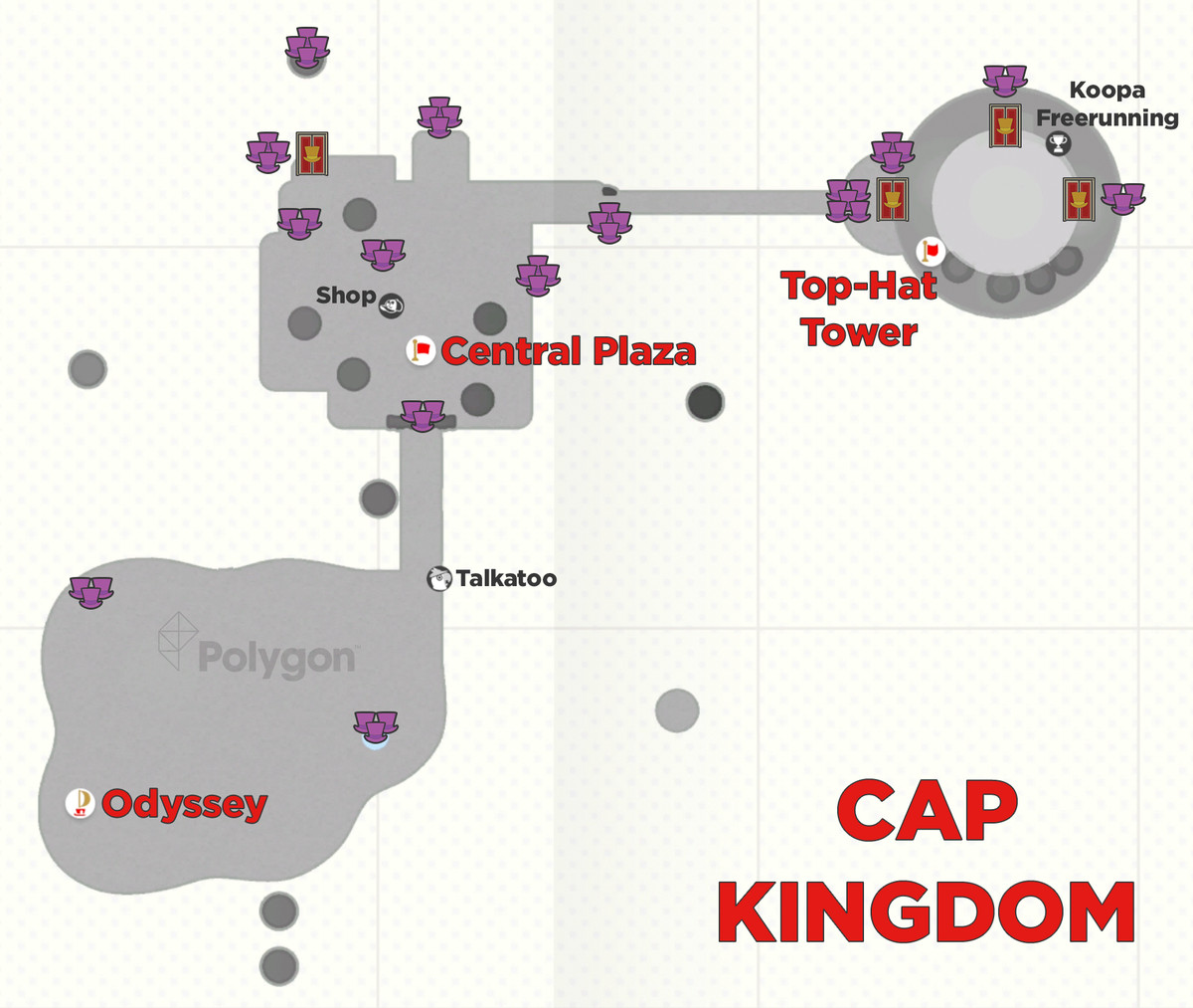 Super Mario Odyssey guide: Cap Kingdom all purple coin locations