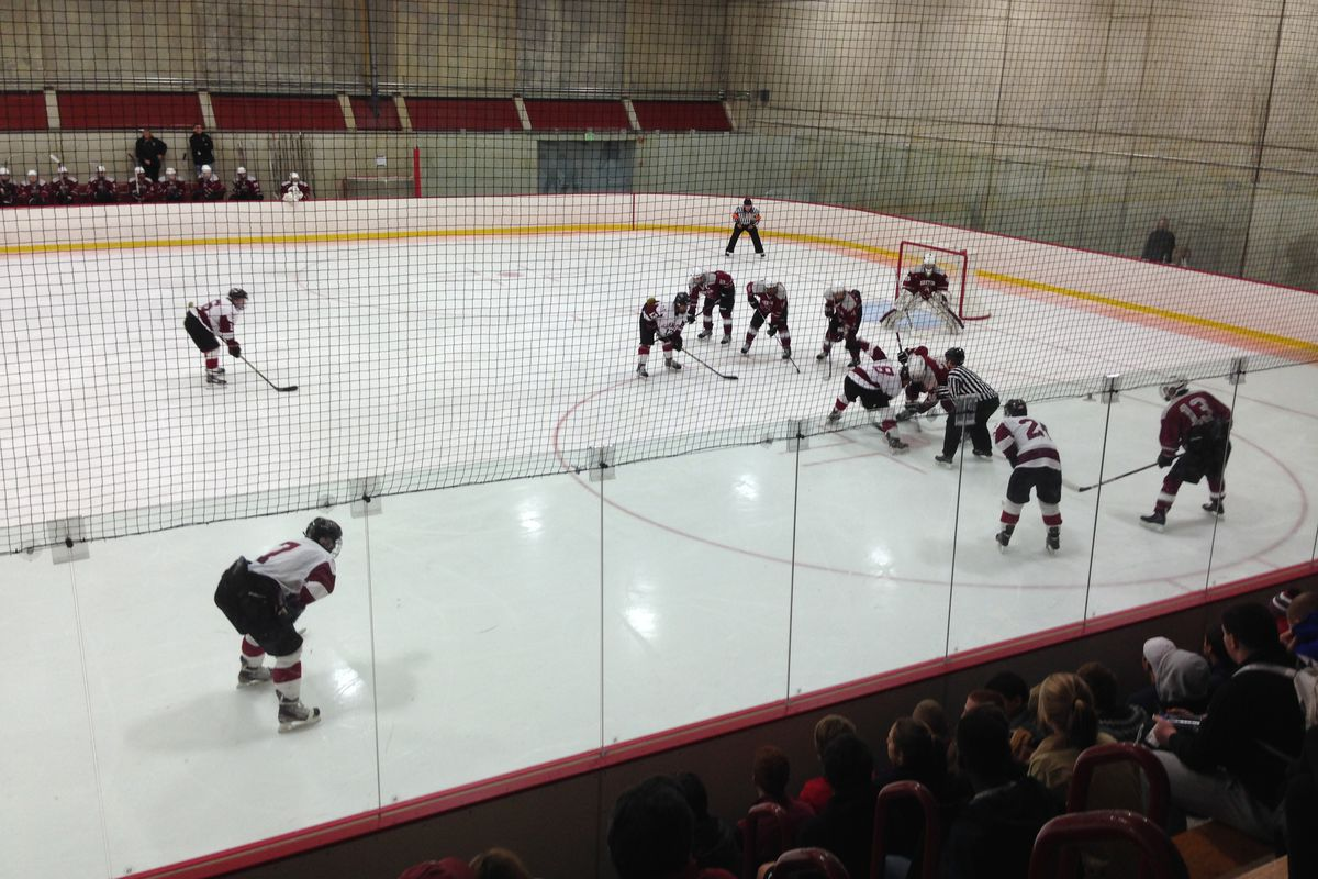Phillips Exeter and Gunnery line up for a face-off in the 2014 Exeter Invitational.