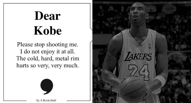 DEAR KOBE. A farewell letter from A Basketball   SBNation.com