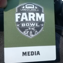 The coolest media credential of all time.