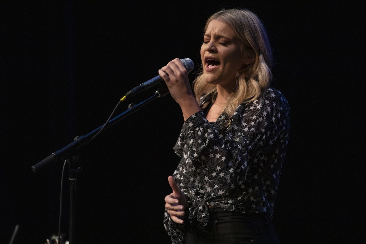 Lauren Alaina performs performs during the CMA Songwriters Series at KiMo Theatre on October 15, 2019 in Albuquerque, New Mexico.