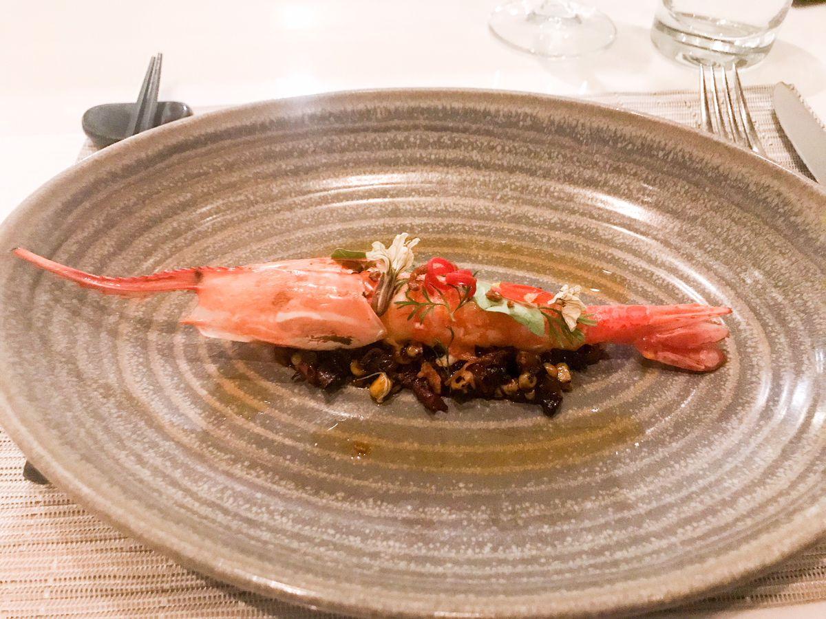 Spot prawn from Lukshon's new tasting menu