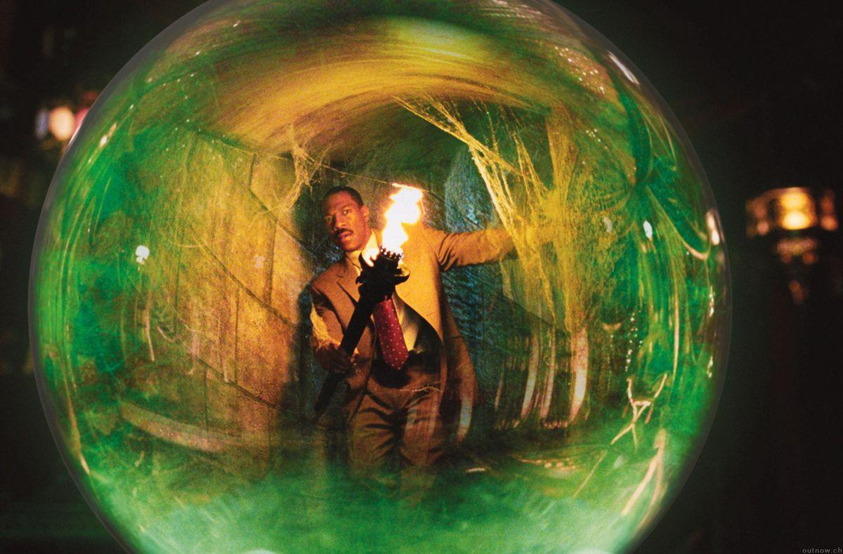 eddie murphy as seen through a green orb