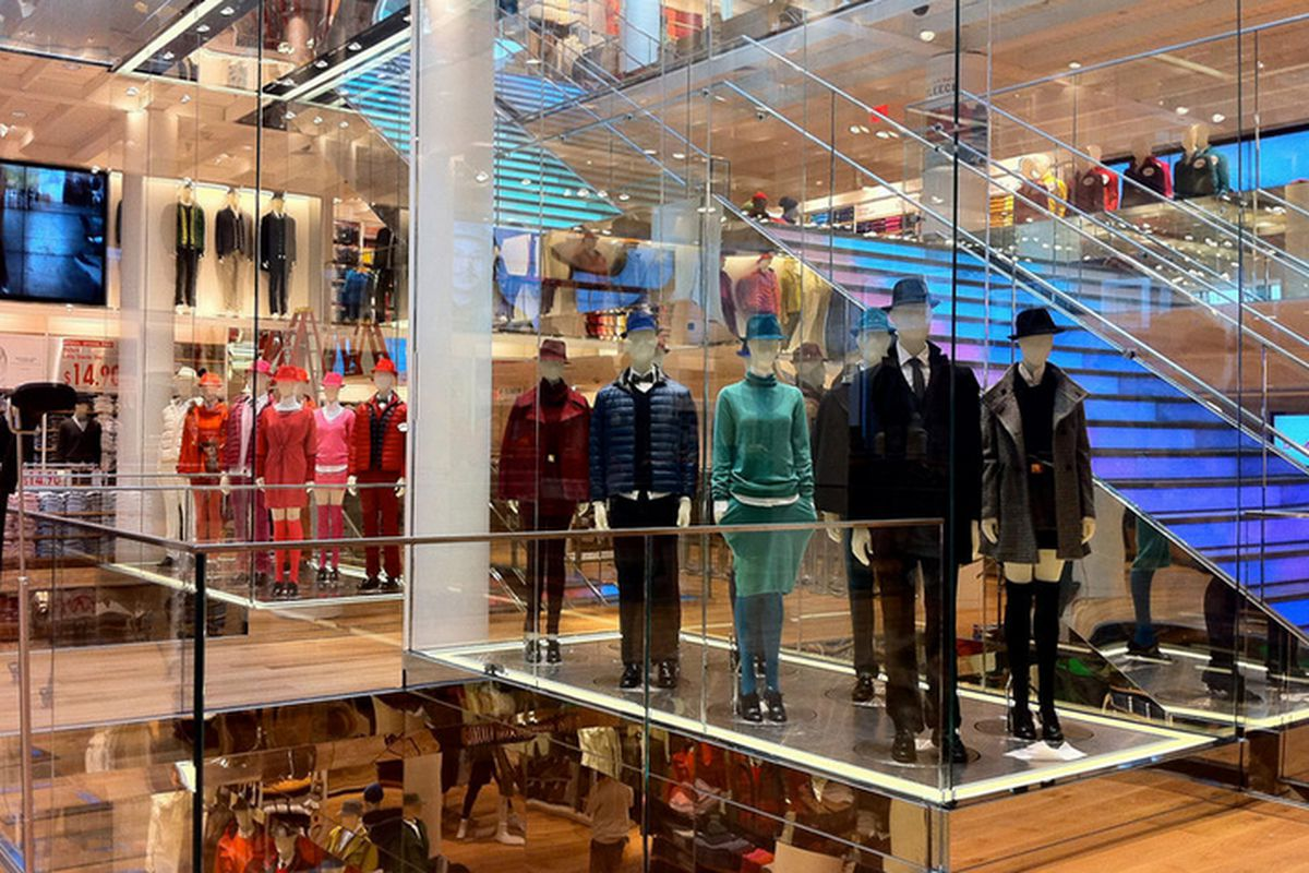 """Uniqlo's San Francisco flagship. Photo via <a href=""""http://sf.curbed.com/archives/2012/10/03/take_a_look_at_the_west_coasts_first_uniqlo_store_opening_this_friday.php"""">Racked SF</a>"""