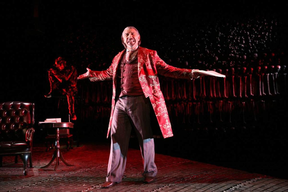 """The stage adaptation of C.S. Lewis' """"The Screwtape Letters"""" is written and directed by Max McLean. For most of the last five years, McLean also played the production's title character; now Brent Harris has taken over the lead role."""