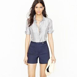 """High-waisted buckle short, <a href=""""http://www.jcrew.com/AST/Navigation/Sale/AllProducts/PRDOVR~60118/99102564572/ENE~1+2+3+22+4294967294+20~~~20+17+4294967047~90~~~~~~~/60118.jsp"""">$34.99</a> with code."""