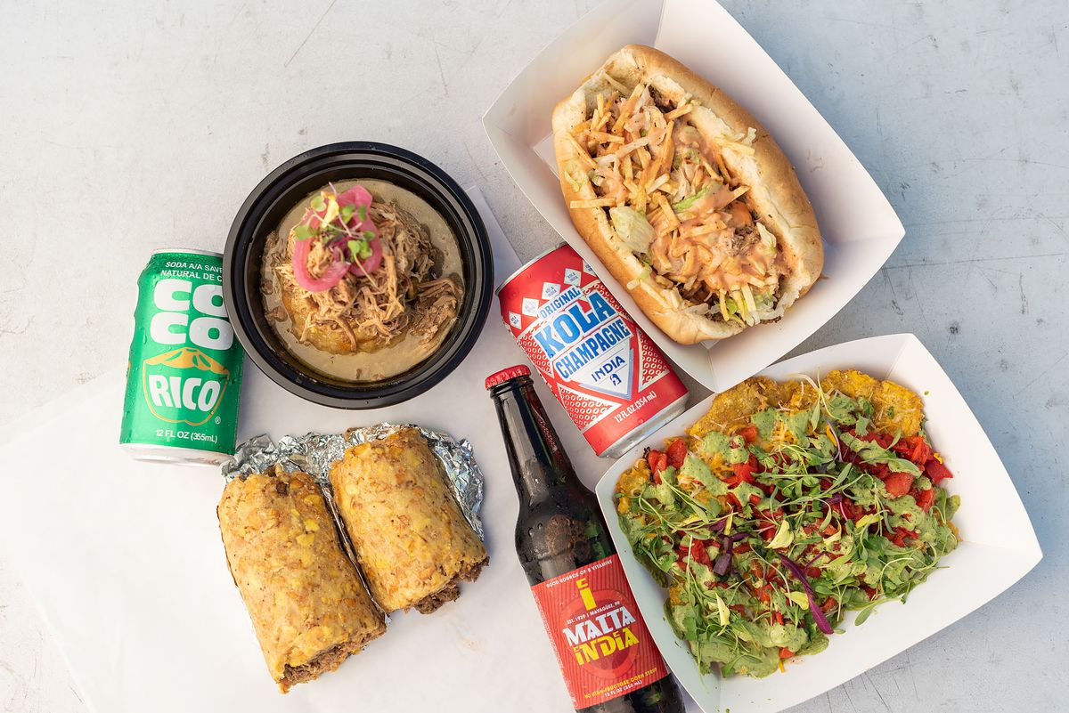 Mofongo, tripleta, and sodas, other dishes from Triple Threat Truck