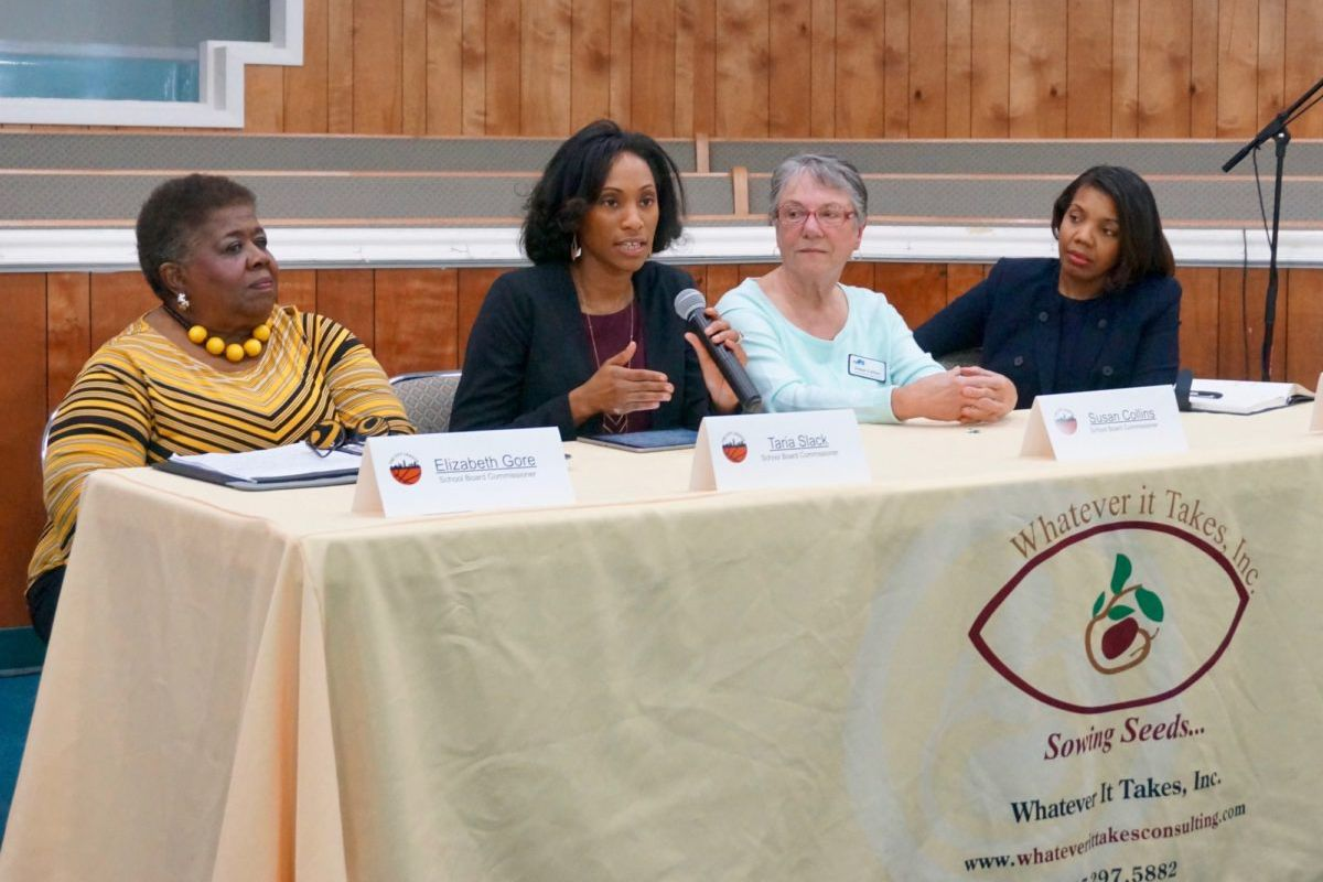 From left to right: Elizabeth Gore, Taria Slack, Susan Collins, and Aleesia Johnson.