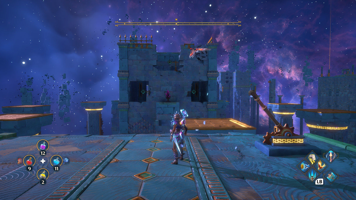 A puzzle solution for The Stymphalian Nests Vault of Tartaros in Immortals Fenyx Rising