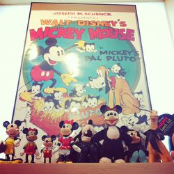 A pop culture setting isn't complete without a Mickey Mouse shrine.