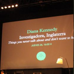 """Diana Kennedy's talk was called """"Things you never talk about and don't want to hear."""""""