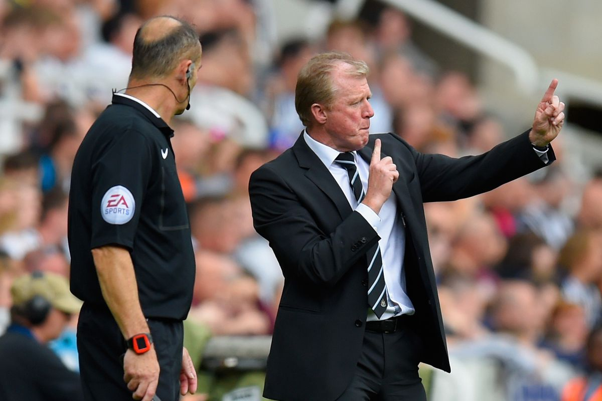 Steve McClaren uses the shadow of a distant tree to figure out how much height Coloccini's hair adds.