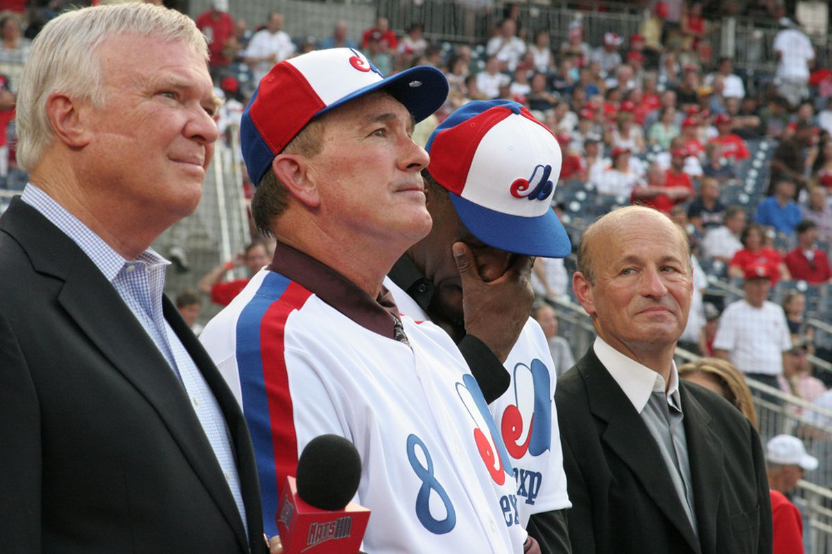 Gary Carter, Expos' Hall of Famer, seen here during last year's ceremony to honor Andre Dawson, released a report this weekend about his health through the Hall of Fame. (photo © I. Koski, @NatsDailyNews)