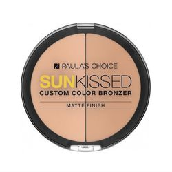 """<b>Paula's Choice</b> <a href=""""http://www.paulaschoice.com/shop/whats-new/_/Sunkissed-Custom-Color-Bronzer/"""">Sunkissed Custom Color Bronzer</a>: If you're not crazy about shimmer or dewy finishes, this is your miracle matte formula. The palette includes t"""