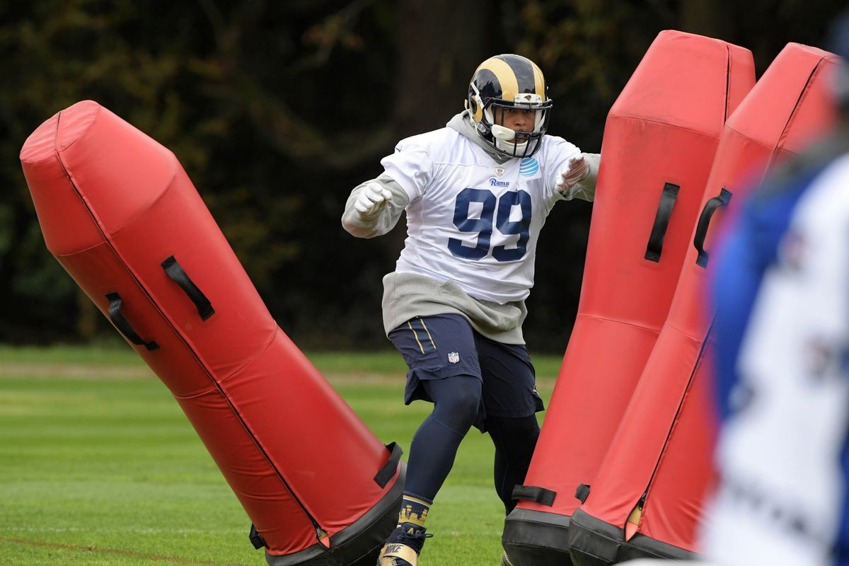 LA Rams DT Aaron Donald At Minicamp Turf Show Times