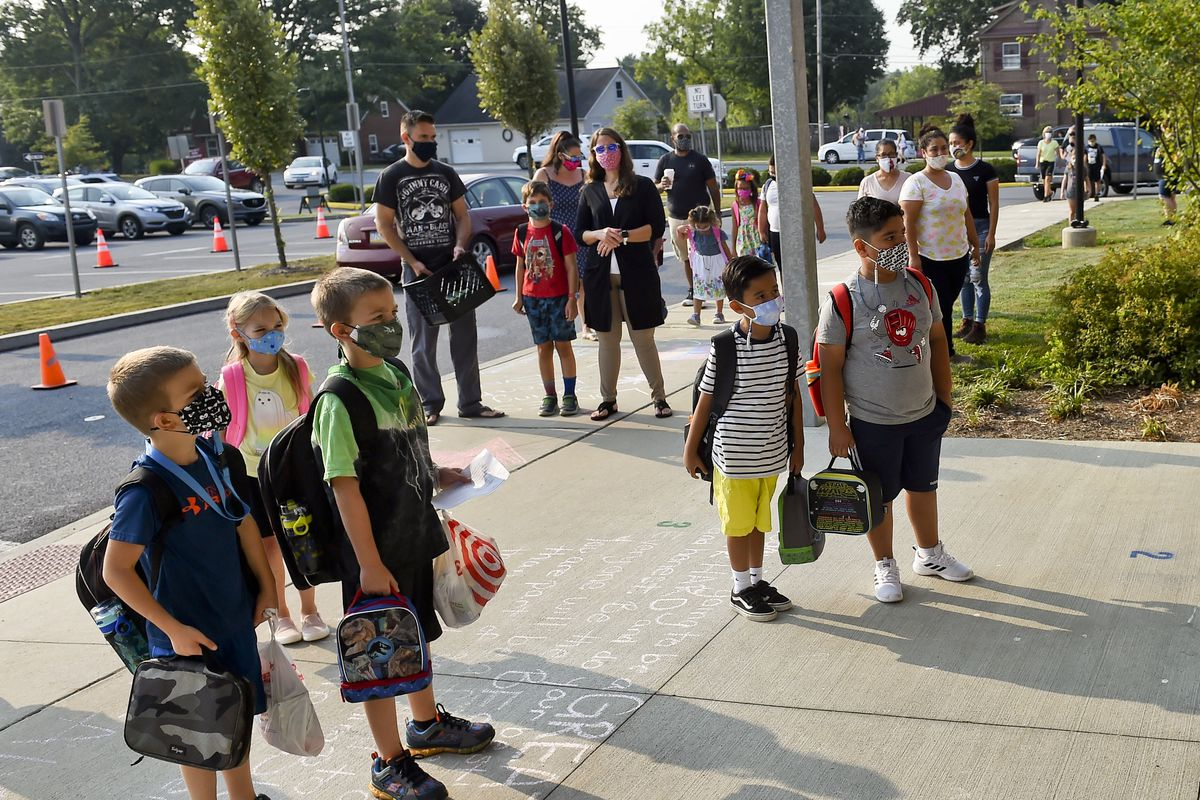 First Day of School For Pennsylvania Elementary School During COVID-19 Coronavirus Outbreak
