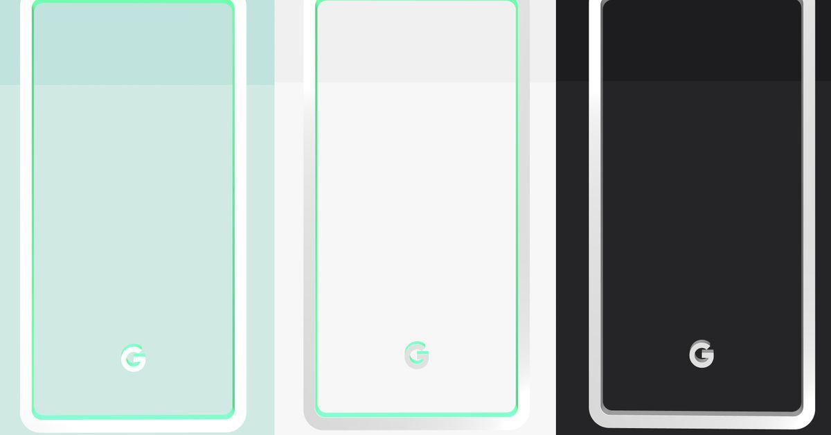 photo image Google reveals Pixel 3 colors: mint, white, and black