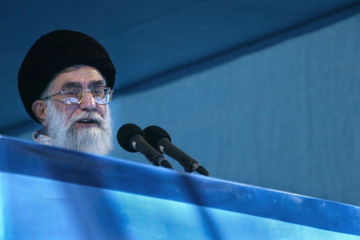 Ayatollah Khamenei, raring to talk about the separation of powers.