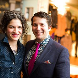 Adele Berne and Michael Kuhle of Menswear Store of the Year winner Epaulet