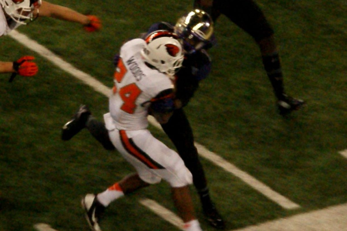 Storm Woods is probable to play against Oregon, after being knocked out of the Washington game.
