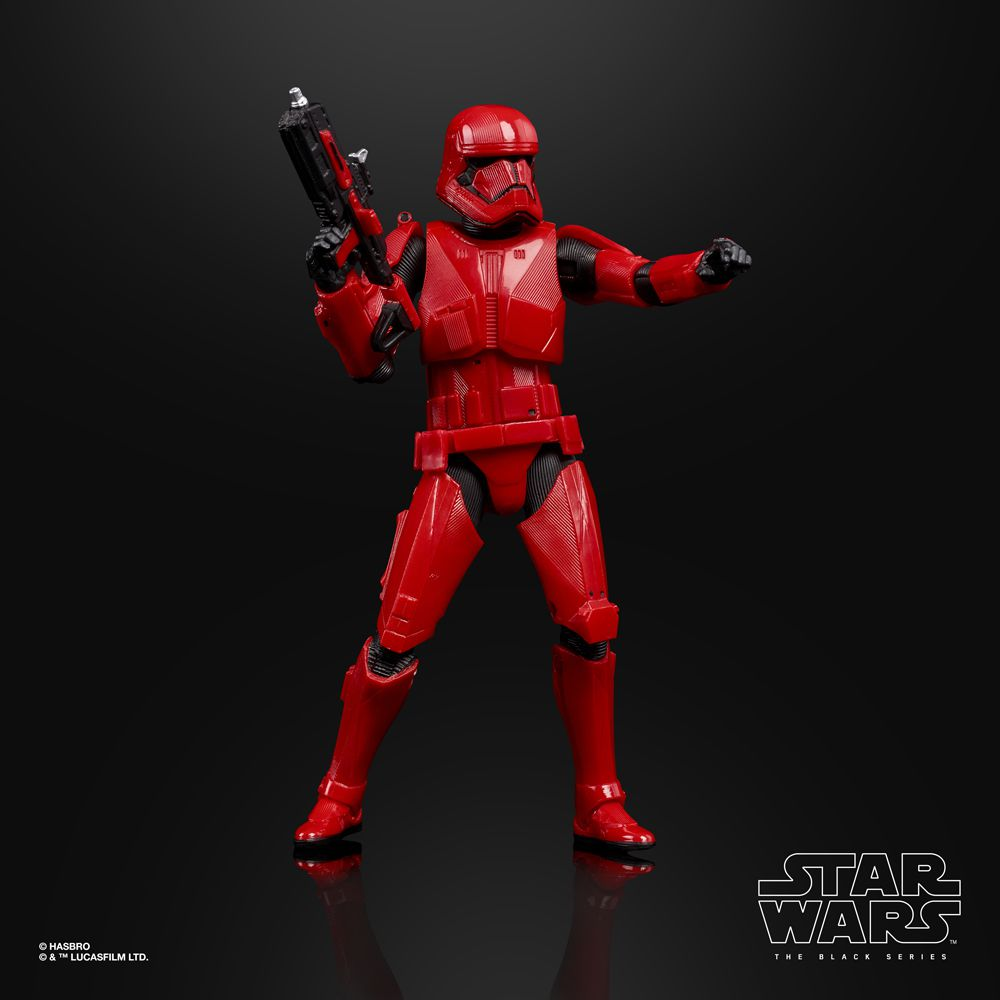 A Sith Soldier of Hasbro's series The Black Series, published by Comic-Con International 2019