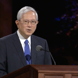 Elder Gerrit W. Gong of the Quorum of the Twelve Apostles speaks in a pre-recorded address that was broadcast during the Saturday afternoon session of the 190th Semiannual General Conference of The Church of Jesus Christ of Latter-day Saints on Oct. 3, 2020.