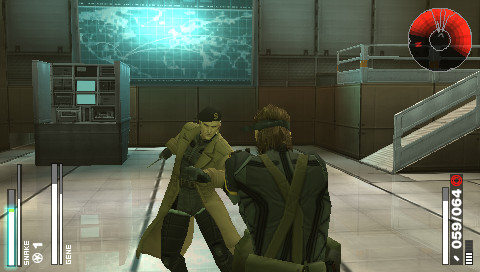 Metal Gear Solid: Portable Ops - Snake fights Gene