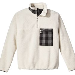 Sherpa Half Zip Jacket in Tan, $39.99