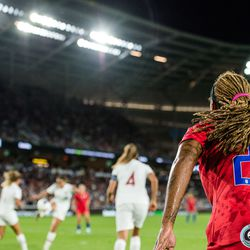 September 3, 2019 - Saint Paul, Minnesota, United States - During the USA World Cup Victory Tour match against Portugal at Allianz Field.