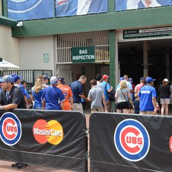 2:30 p.m. Wrigley tour group entering at Gate D -